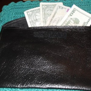 Hand made Soft Leather Money Bag, Envelope Bag, Auto Document Holder. Black/Tan/Brown