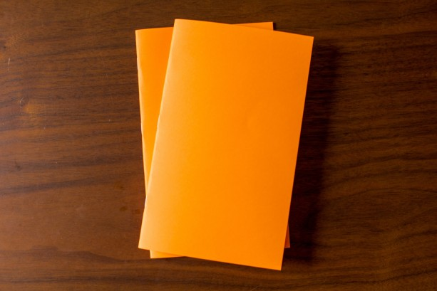 Orange Notebook 5 Pack - 5.25 x 8.25 diary journal bulk notebooks party favors sketchbook party favors wedding logo free blank flat rate shipping