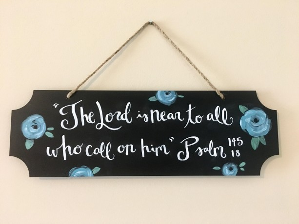 Hand Painted Scripture on Chalkboard