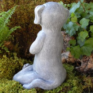Meditating Dog Statue,Yoga Dog Statue,Dog Buddha Statue,Zen Statue,Outdoor Zen Garden Decor,Cement