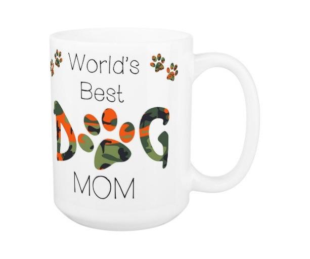 Dog Mom Coffee Mug 12A - Mothers Day Dog Mug - Dog Lover Gift - Worlds Best Dog Mom - Gift for Mom - Gift for Dog Lover - Pet Lovers