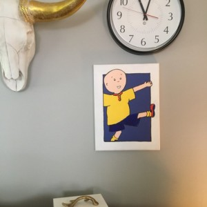 "Caillou painting 11x14"" acrylic on canvas-Free Shipping"