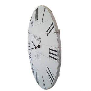 Personalized Antique White Clock- Wall Clock - Farmhouse Clock- White Clock- Wood Clock - Roman numeral Clock -Personalized Clock