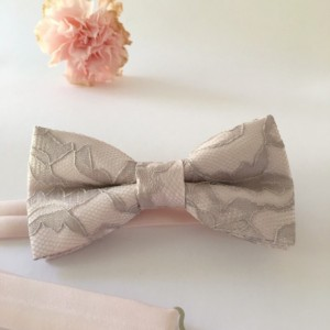 Blush Silver Gray Bow Tie - Light Pink Silver Bow Tie - Grey Lace Bow Tie - Blush Bow Tie - Light Pink Bow Tie - Pink Bow Tie