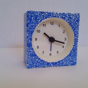 "Alarm Clock with Unique Hand Drawn ""Maze"" Exterior"