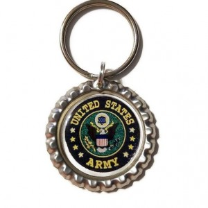 United States Army Bottle Cap Keychain
