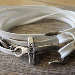 Men's Bracelet - Men's Anchor Bracelet - Men's Vegan Bracelet - Men's Jewelry - Men's Gift  - Boyfriend Gift - Sailor Gift - Guys Bracelet
