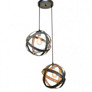 ATOM Collection - Plicate - Wine Barrel Chandelier / handmade from retired California wine barrel rings - 100% Recycled!