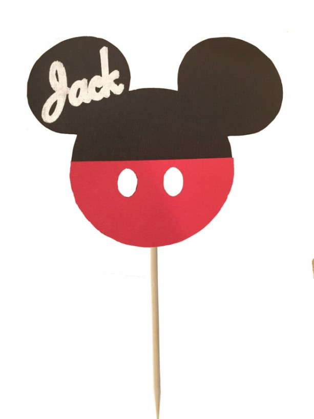 Mickey Mouse® Inspired Cupcake Toppers - Set of 12