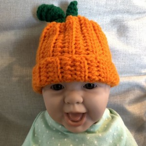 Pumpkin beanie, you choose size