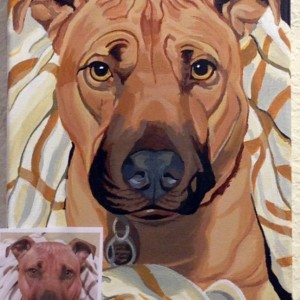 "Dash - Custom Pet Portrait 16"" x 20"""