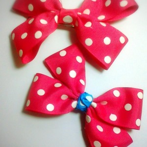 Boutique style girls baby toddler child set of 2 hairbow matching set