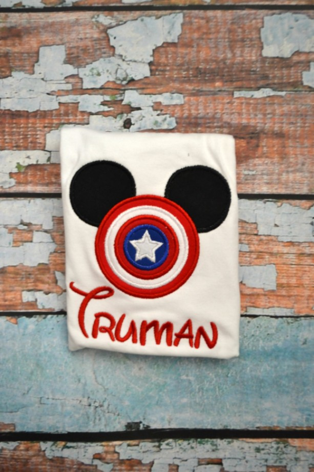 Mickey Mouse Captain America Shirt, Boys Captain America Shirt, Captain America Mickey Mouse, Boys Birthday Shirt