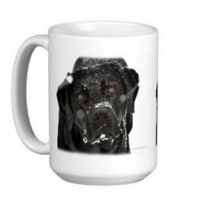 Black Lab Mug - Labrador Mug - Labrador Gifts - Lab Dog 4- Black Lab Painting - Lab Mom - Labrador Retriever - Black Dog Art - Black Lab Art