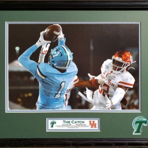 Tulane 2019 Victory over Houston The Catch Custom Framed Picture