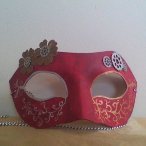 """Steampunk and Flowers"" Cosplay/Masquerade Mask"