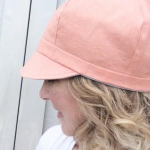 Spring Newsboy Hat - Curvy Sister Newsboy - Reversible Summer Hat for Women - Women's Reversible Newsboy Hat - Lightweight Linen-Blend Hat