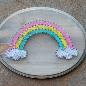 Rainbow String Art- Nursery Art