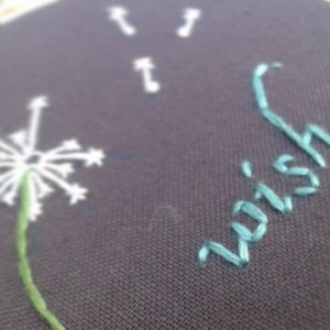 Wish Hand Embroidery Hoop- Wall Art (3 inch)