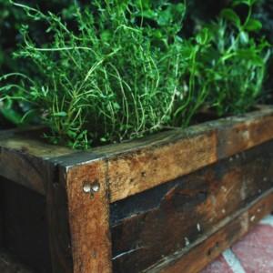 Planter box, garden box, garden pot, Planter, 3-way planter box, Rustic planter box, Vintage planter box, herb planter box, herb pot, herbs
