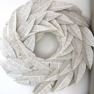 Rustic Fall Book Leaf Wreath