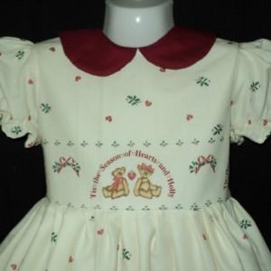 NEW Handmade Daisy Kingdom Stocking Bears Christmas Dress Deluxe Custom Size