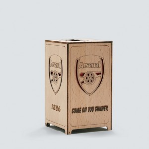 Mini wooden Football table lamp Handcraft Handmade