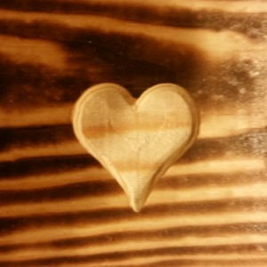 Rustic Maine State Decor, add a heart to you location