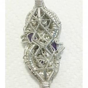 Garnet and Amethyst reversible pendant