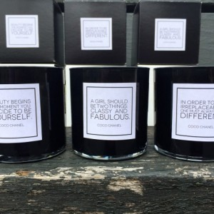 Scented Soy Candles. FREE SHIPPING. Set of 3. Chanel Quotes.