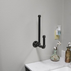 Wall mounted paper hand towel holder. Rustic Industrial Paper Towel Dispenser, Farmhouse Paper Towel holder, Urban Modern Paper Towel Rod