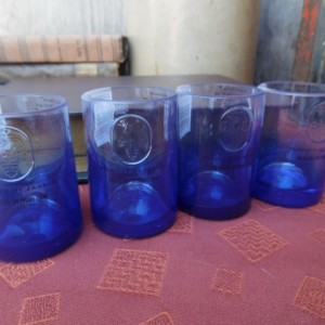 Ciroc Recycled Glass Bottle Shotglasses,  set of 4