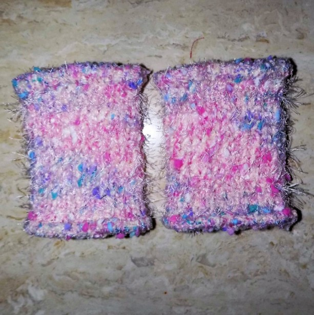 Pink & White Confetti Baby & Toddler Knit Leg Warmers