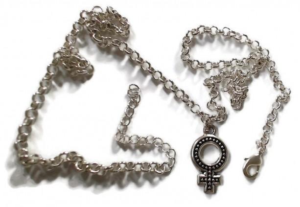a0571441b ... Venus Symbol Necklace / Female Symbol Necklace 18-20