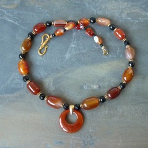 Carnelian Onyx Stone Necklace
