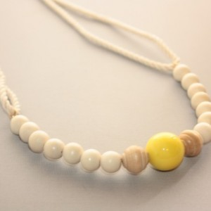 Summer Yellow Wood Necklace