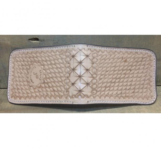 Basket stamped front pocket wallet