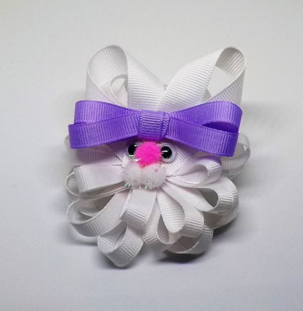 Easter Bunny Hair Clip - Easter Hair Bow