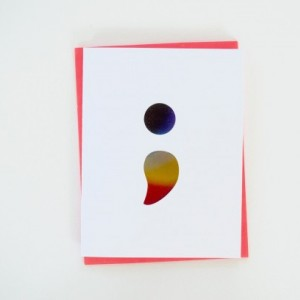 Semicolon [Foiled] Greeting Card (Mental Health Awareness) x2