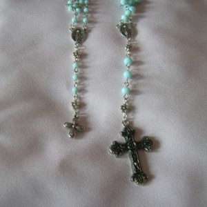 Heavenly Blue Rosary Set for American Girl Doll and Little Girl