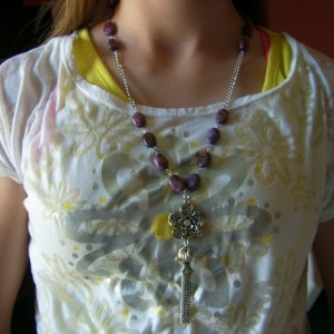 Amethyst Tassel Pendant Necklace