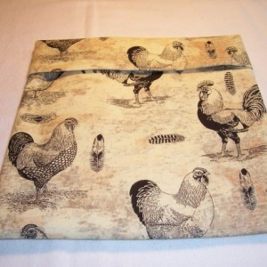 Roosters,Chickens Print Microwave Bake Potato Bag,Gifts,Housewarming,Baked Potato,Kitchen,Dining,Serving