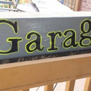 Garage pallet sign pinstriped dads garage grandpas garage man cave