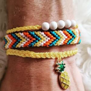 Pineapple friendship bracelets