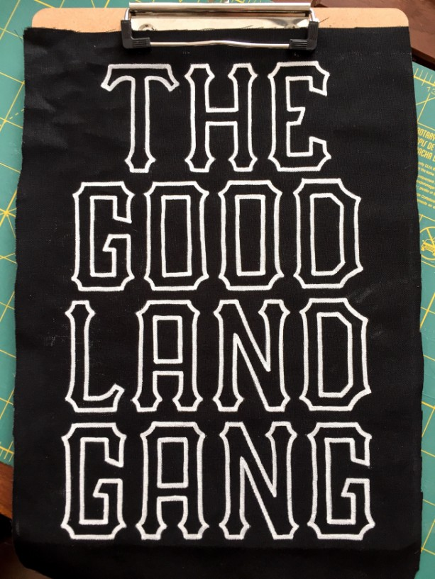 """The Good Land Gang"" Hand-Painted Back Patch"