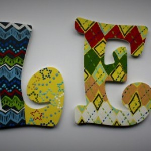 Boy Nursery Wall Letters -- Hand Painted Wall Letters to match any bedding or theme -- Price Per Letter