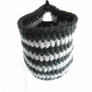 Black and Gray Hanging Storage Basket