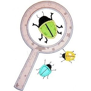 Beetle Magnifying Glass Shirt - Applique Shirt - Bug Shirt - Toddler Shirt