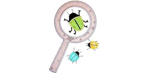 Beetle Magnifying Glass Shirt - Applique Shirt - Bug Shirt - Toddler Shirt
