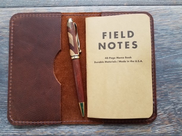 Kodiak Leather Cover for Field Notes notepad